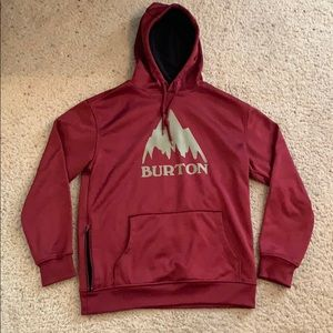 Small Maroon 'Dry Ride' Burton snowboarding hoody
